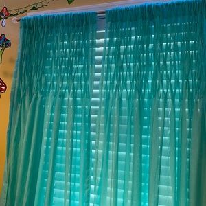 Teal/Turquoise Sheer Curtain Panels